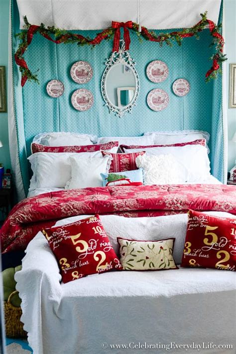 Foxy christmas decoration ideas bedrooms. My Christmas Bedroom Decor | Celebrating Everyday Life ...