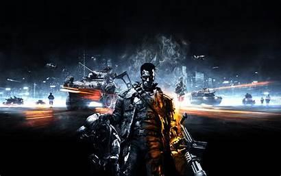 Machines Terminator Arnold Schwarzenegger Rise Battlefield Wallp