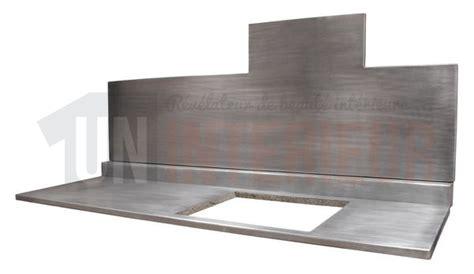 plan de travail en zinc pour cuisine crédence en zinc et plan de travail sur mesure