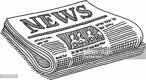 Newspaper Drawing Vector Art | Getty Images