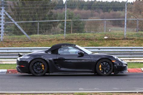 Spyshots 2019 Porsche 718 Boxster Spyder Hits Nurburgring