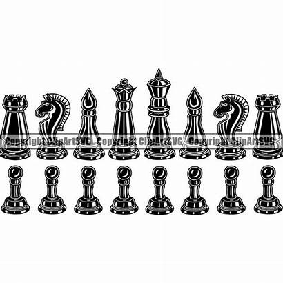 Chess Pieces Clipart Svg