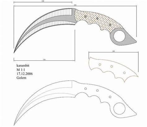 Ver más ideas sobre plantillas cuchillos, cuchillos, plantillas para cuchillos. plano para diseño de cuchillo karambit - Buscar con Google ...