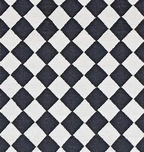 Teppich Schwarz Weiß : teppich diamond baumwolle schwarz wei 55 x 120 cm ~ A.2002-acura-tl-radio.info Haus und Dekorationen