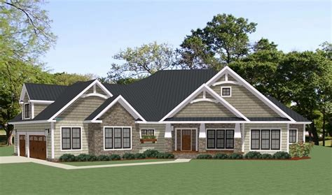 story craftsman style house plan  covington