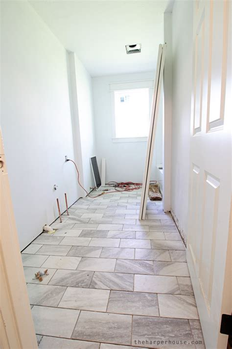 White Floor Tiles For Bathroom by Classic Gray And White Bathroom The House