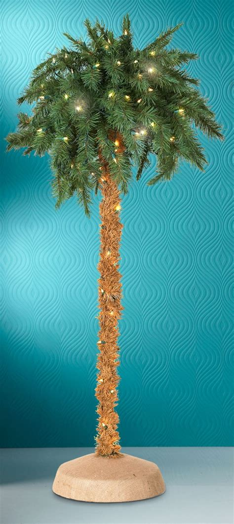 lighted palm tree 5 foot lighted palm tree one size green jet
