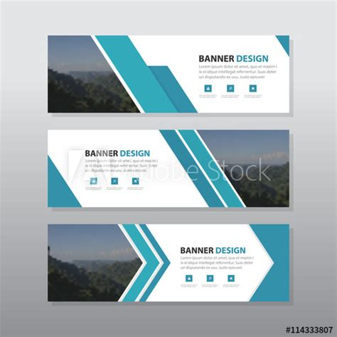 blue abstract corporate business banner template