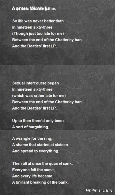 annus mirabilis poem  philip larkin poem hunter