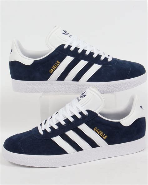 adidas gazel adidas gazelle trainers navy white originals shoes mens