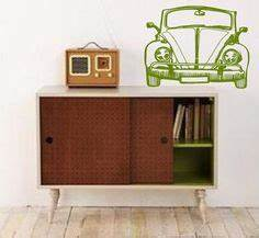 volkswagen art for the home on pinterest volkswagen With kitchen cabinets lowes with inspirational vinyl wall art