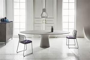 Table Ovale Design : table ovale podium bontempi casa espace steiner design contemporain ~ Teatrodelosmanantiales.com Idées de Décoration