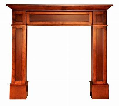 Wood Mantle Stained Shaker Fireplace Mantels Dark