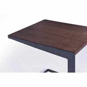 Table D39appoint Bout De Canap Vintage MAGEN En Bois Noyer