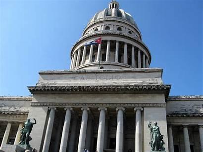 Cuba Capital Havana Building Capitolio El January