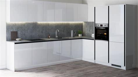 greenwich gloss white handleless kitchen fitted kitchens