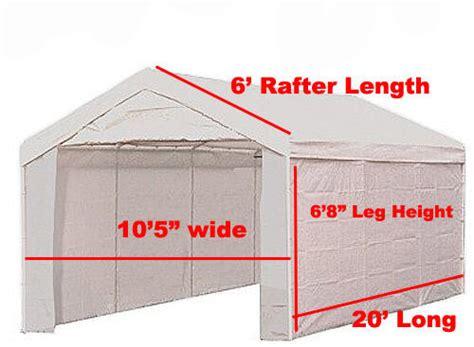 heavy duty pc valance canopy enclosure tarp carport cover white ebay