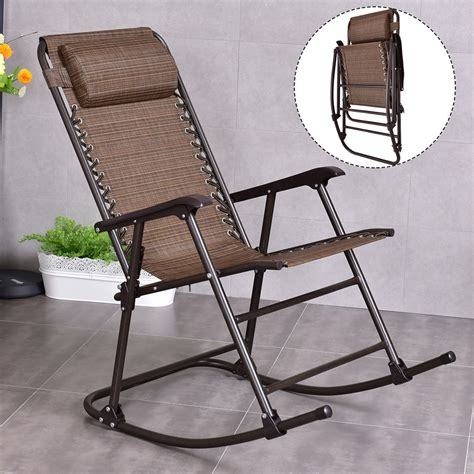 folding rocking patio chair folding rocking chair porch patio indoor rocker with
