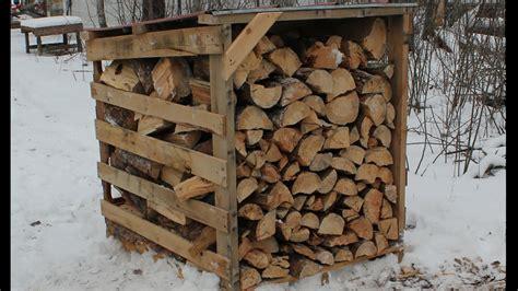 firewood storage  easy  pallet wood sheds youtube