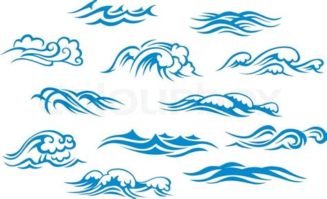 black maori wave copiable template ocean and sea waves stock vector colourbox