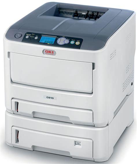 colored laser printer okidata c610n color laser printer