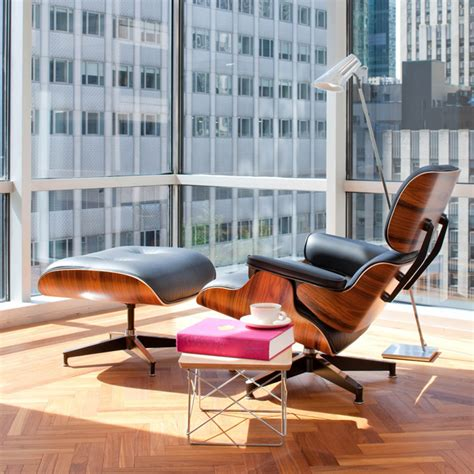 eams chaise mlf lounge chair and ottoman