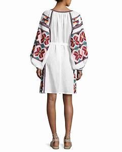 Dolce Vita Puff : vita kin embroidered puff sleeve mini dress white pattern ~ Frokenaadalensverden.com Haus und Dekorationen