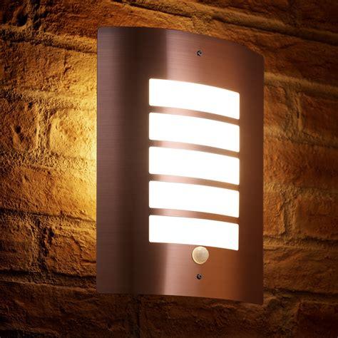 auraglow pir motion sensor outdoor security wall light