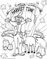Coloring Harvest Pages September Fall Festival Colouring Getcolorings Printable Autumn Getdrawings Colorings sketch template