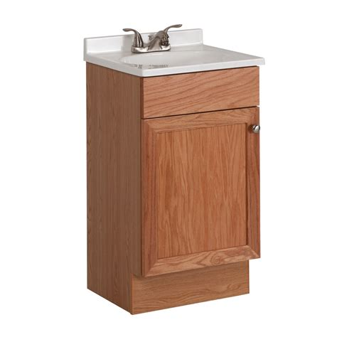 shop project source oak integral single sink bathroom vanity with cultured marble top common