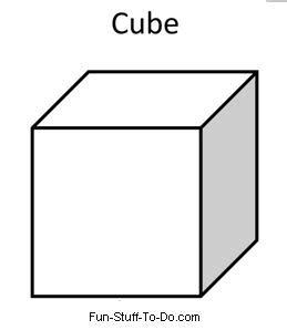 cube coloring pages kidsuki