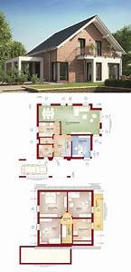 Haus Grundriss Ideen Einfamilienhaus : einfamilienhaus mit klinker fassade satteldach und carport ~ Lizthompson.info Haus und Dekorationen