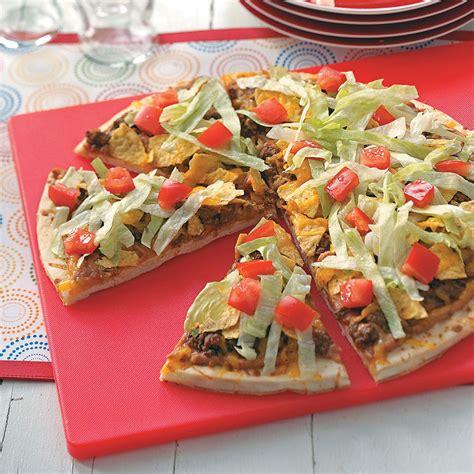 Easy Taco Pizza Recipe Taste Of Home