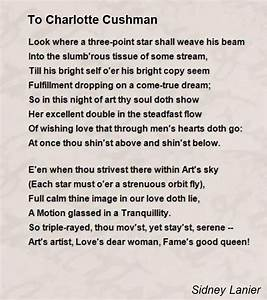 To Charlotte Cu... Charlotte Cushman Quotes