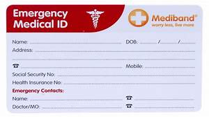 emergency information identification wallet card medical With medical alert wallet card template