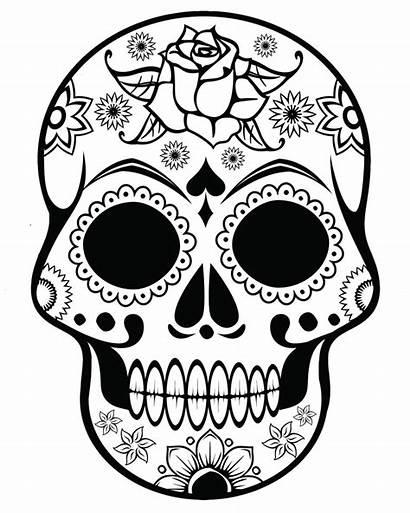 Coloring Skull Sugar Trippy Difficult Grown Ups