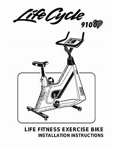 Life Fitness Exercise Bike Lifecycle 9100 User Manual