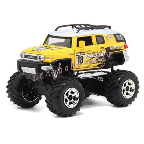 toy monster trucks racing yellow for monster truck racing 1 32 alloy diecast model