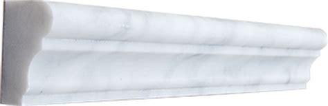 12 95ea carrara bianco chair rail honed