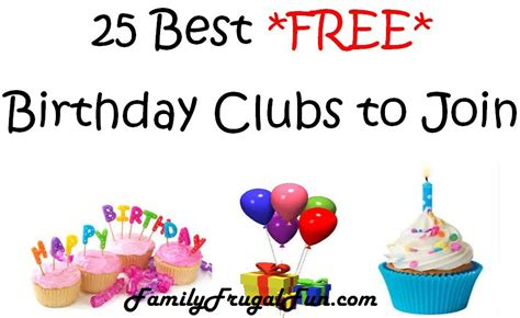 25 Best Free Birthday Clubs To Join  Family Finds Fun