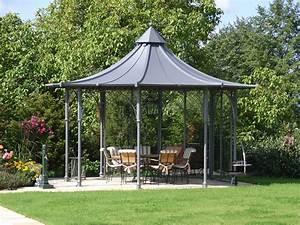 Pavillon Metall Wetterfest : gartenpavillon aus metall mit dach von matt pavillons garten sitzecke pinterest pavillon ~ Watch28wear.com Haus und Dekorationen