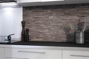 Parement Bois Adhesif : plaquette de parement adhesive 0 pose credence cuisine ~ Premium-room.com Idées de Décoration