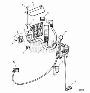 Volvo Penta Exploded View    Schematic Wiring Harness Inboard D8a1
