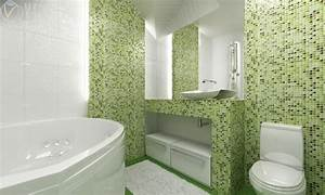 salle de bain mosaique idees et conseils en 23 photos cool With salle de bain mosaique verte