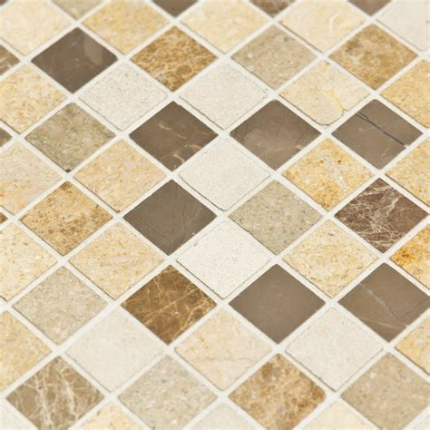 travertin cuisine mosaïque marbre chiara blanche marron beige indoor by