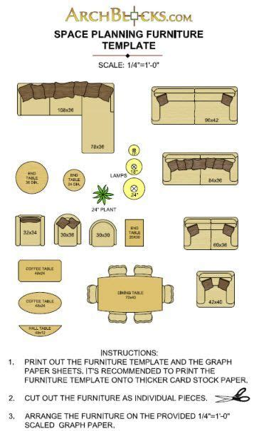 printable furniture templates   scale  graph