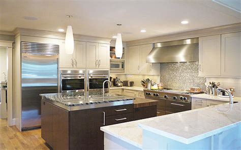 modern kitchens  stainless steel backsplash designs