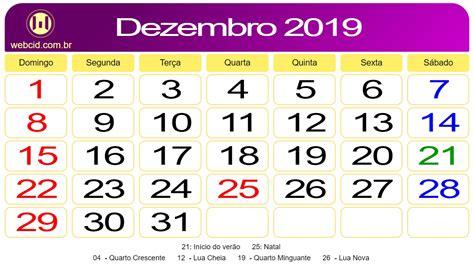calendario de dezembro de webcid