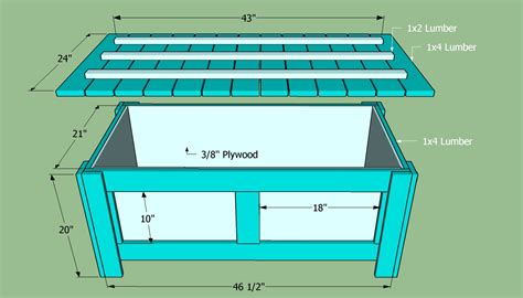outdoor bench seat  storage plans  woodworking