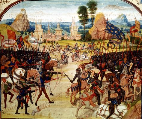 siege translation infantry tactics at the battle of crecy 26 august 1346